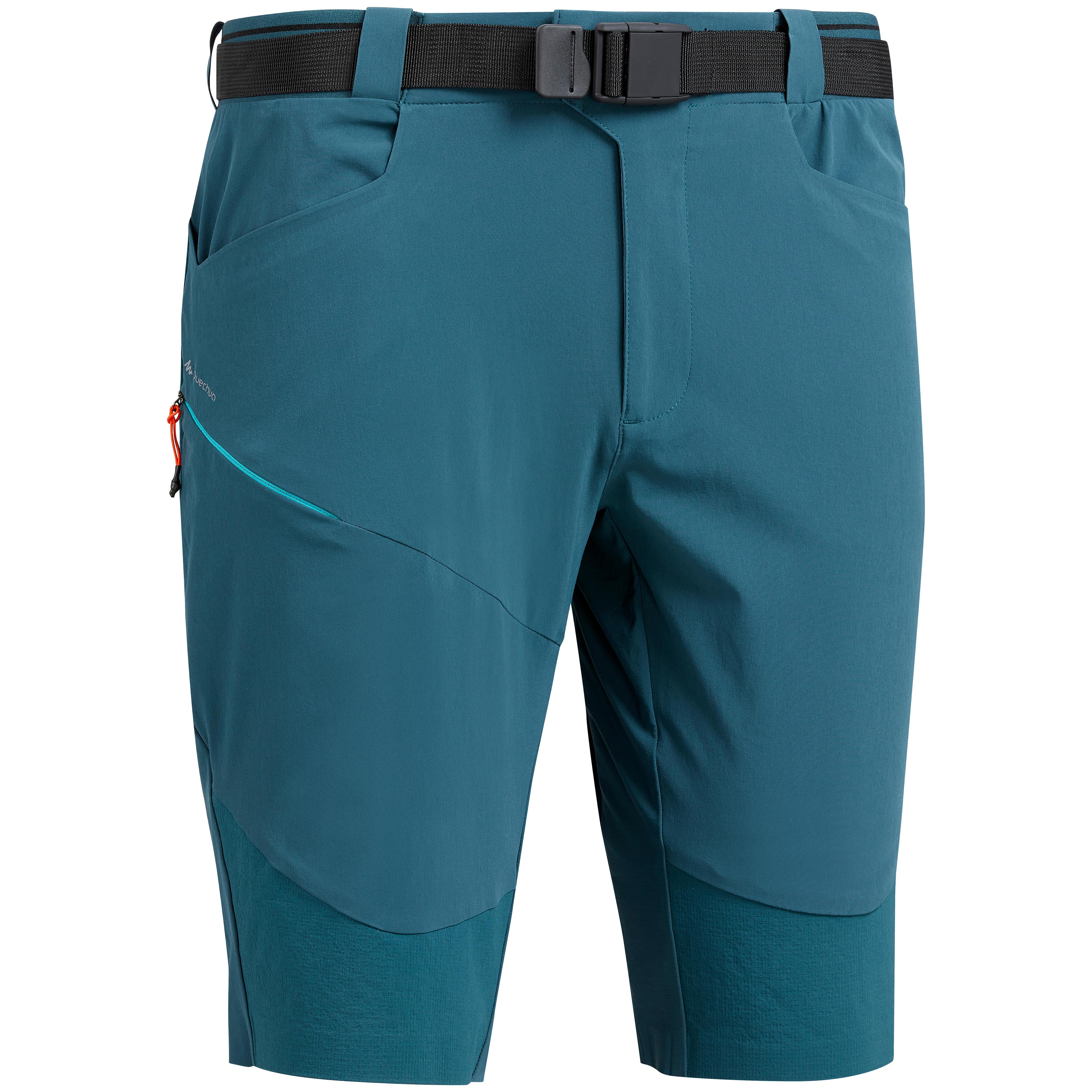 Wandershorts Bergwandern MH500 knielang Herren blau | Bekleidung > Shorts & Bermudas > Trekkingshorts | Blau - Türkis | Quechua