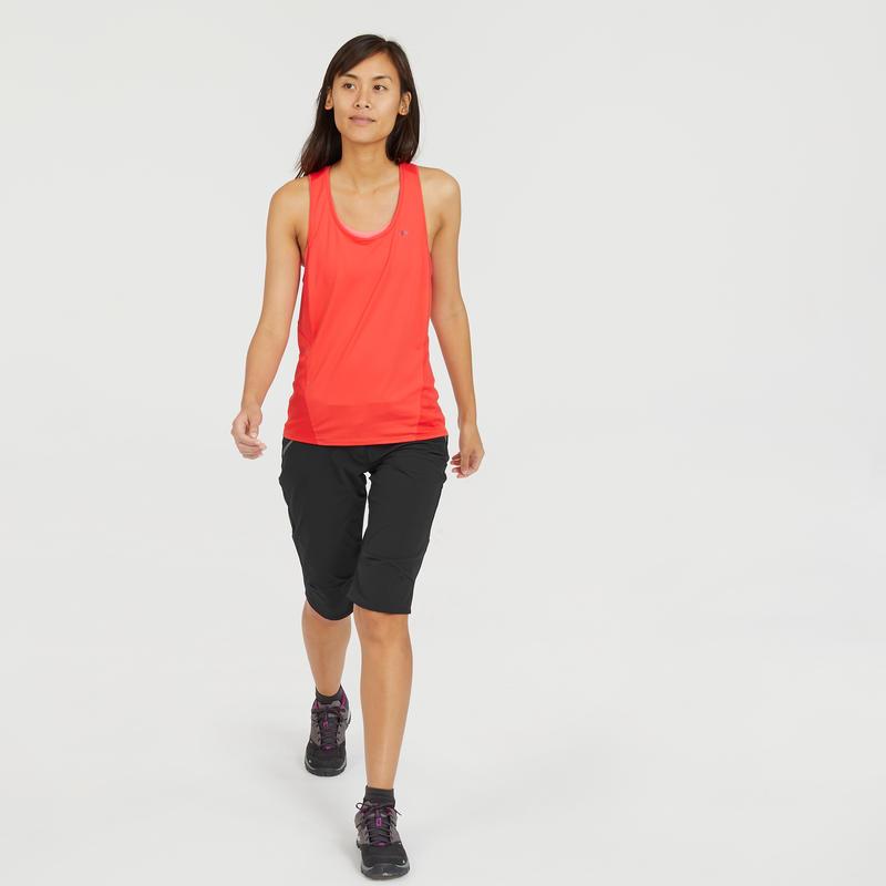 Women's cropped mountain walking trousers MH500