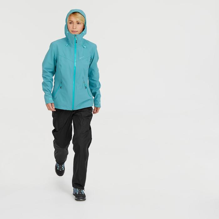 Dames regenbroek voor bergwandelen MH500 zwart