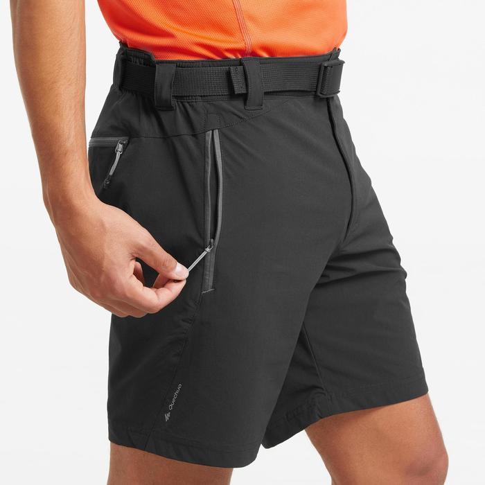 Pantalón corto de senderismo montaña MH500 hombre negro