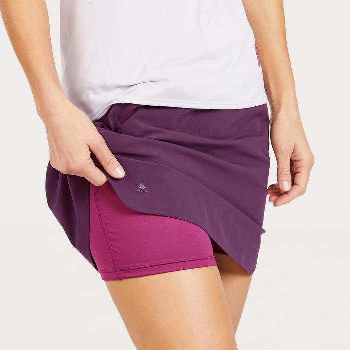 Jupe-short de randonnée montagne Femme MH500 Prune