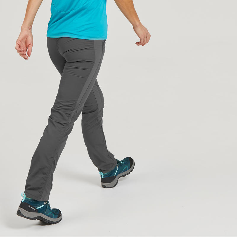 Pantalon De Senderismo Montana Mujer Mh100 Gris