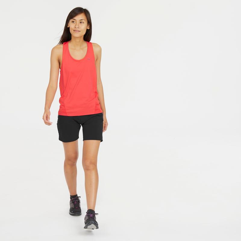 Women's Mountain hiking shorts - MH500- Black