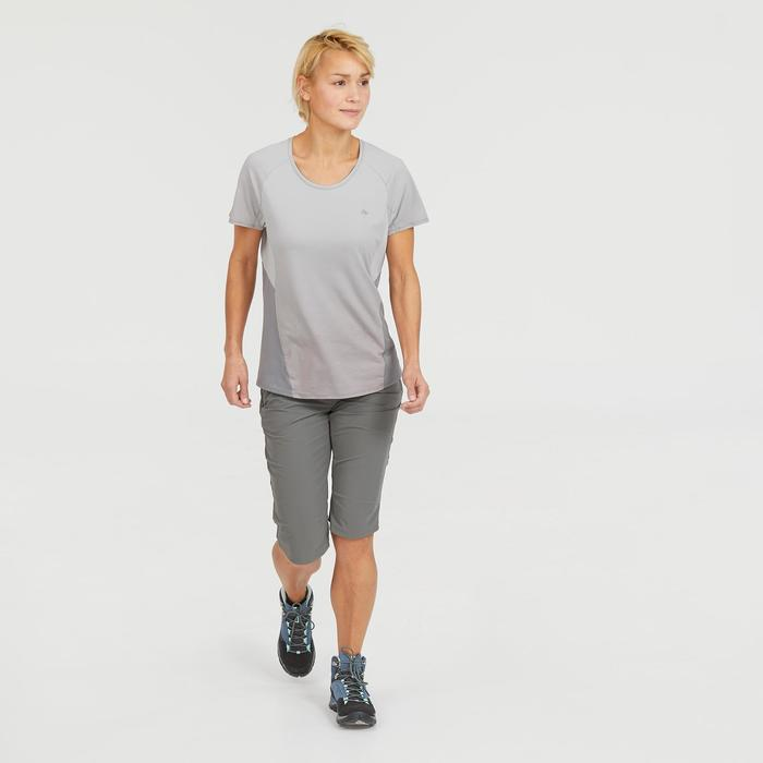 Wanderhose Dreiviertel Bergwandern MH500 Damen khaki