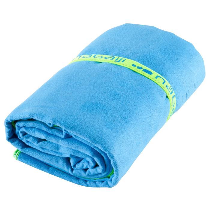 Serviette microfibre bleu cina  ultra compacte taille XL 110 x 175 cm - 156904