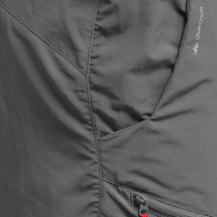 Pantalón Corto de Montaña y Trekking Quechua MH100 Hombre Gris