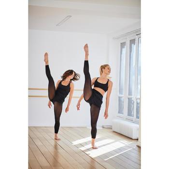Aansluitende minishort voor moderne dans dames zwart
