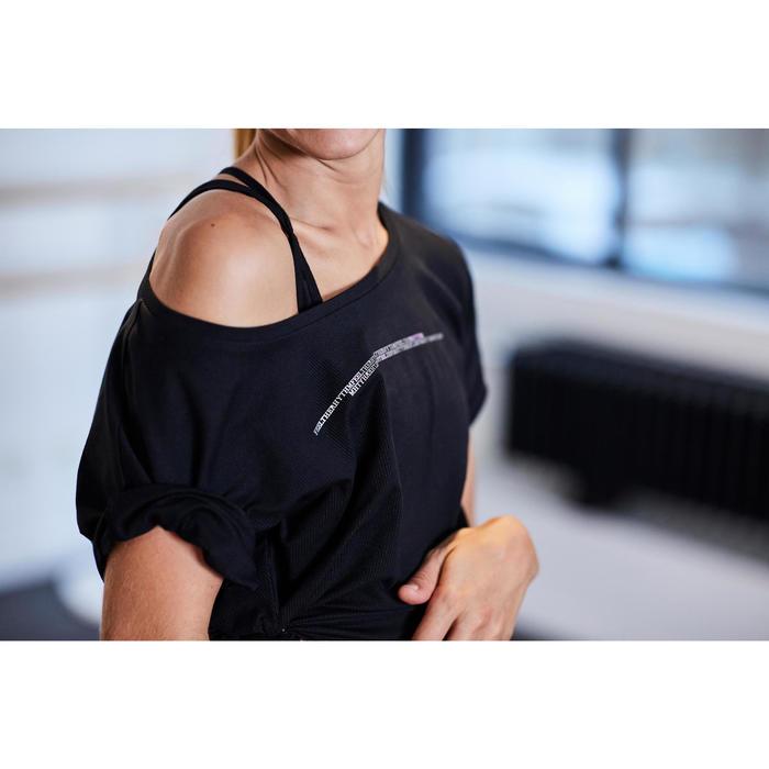 Dance-Shirt kurz Modern Dance Damen schwarz