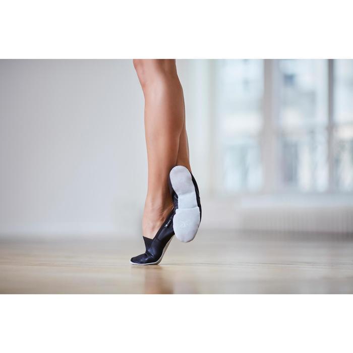 Dansschoenen in soepel leer voor jazzballet volwassenen maat 41-42
