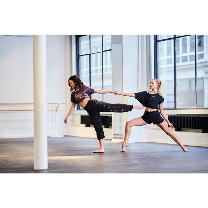 Short danza moderna mujer gris con cordones de ajuste negro