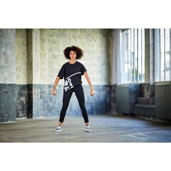 Dameslegging voor streetdance/dans-workouts zwart