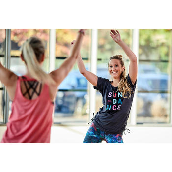 Dance-Shirt anpassbar Fitness Dance Damen schwarz