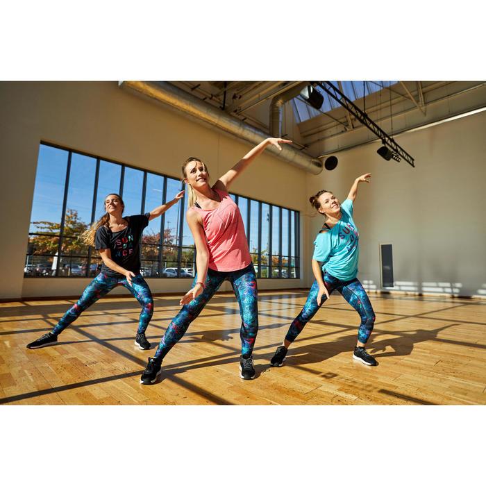 Sporttop dans workouts blauw gekruiste bandjes