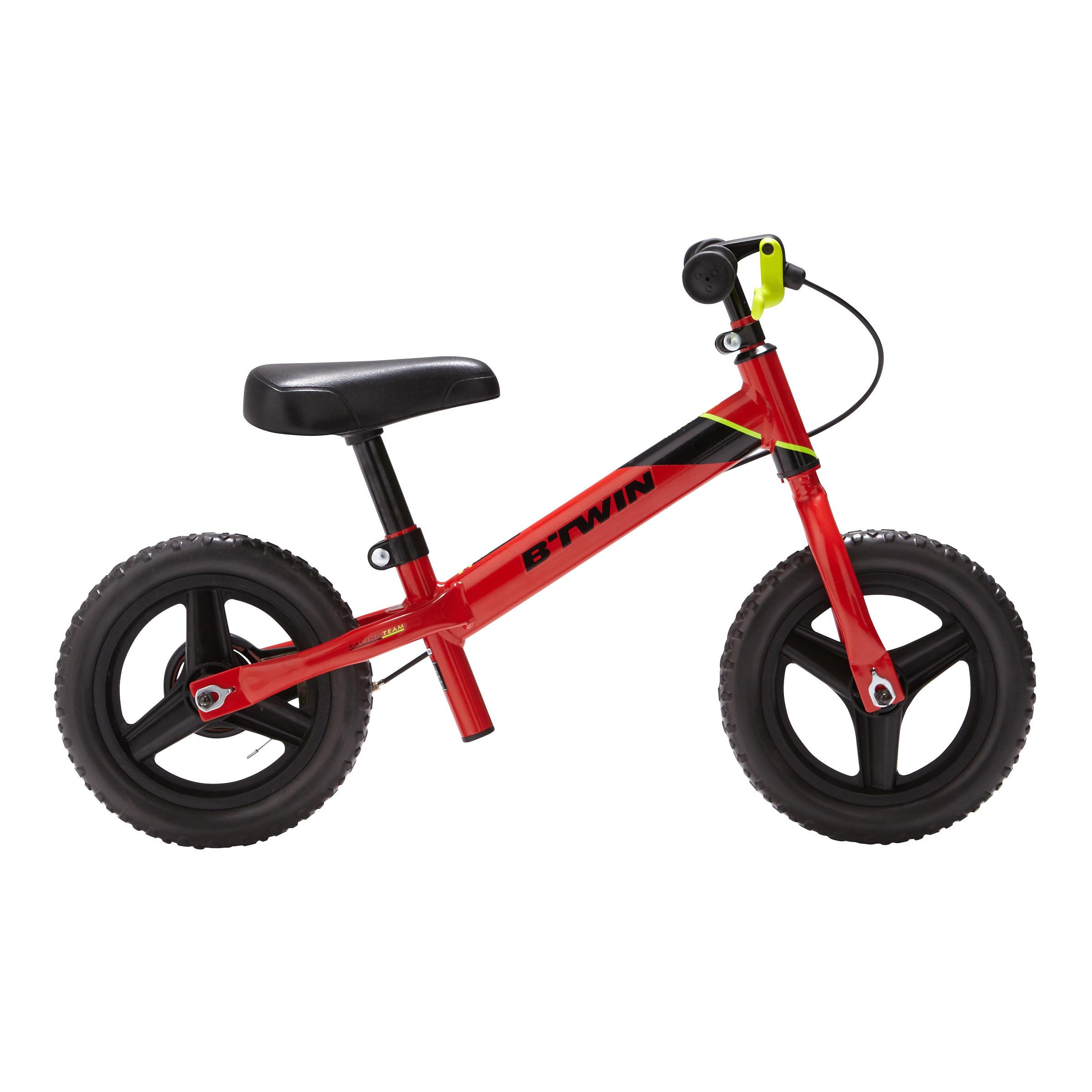 Bicicleta de 10 pulgadas sin pedales para niños RunRide 520 rojo BTT