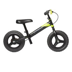 Bicicleta de 10 pulgadas sin pedales para niños RunRide 520 negro amarillo BTT