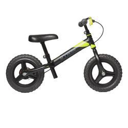 Loopfietsje voor kinderen 10 inch RunRide 520 MTB zwart geel