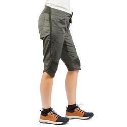 Wanderhose Dreiviertelhose NH500 Fresh Damen kaki