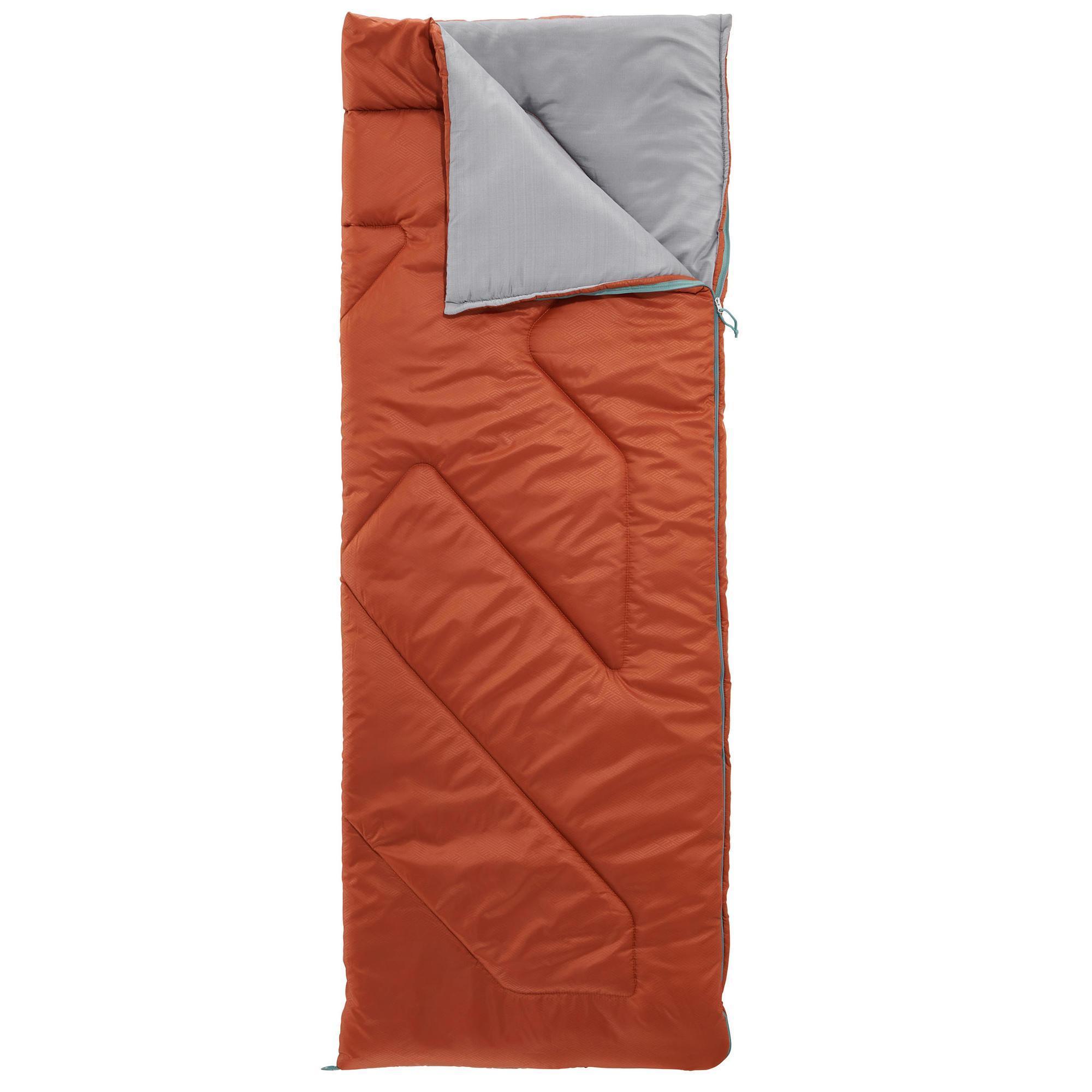 Schlafsack Camping Arpenaz 10°C braun