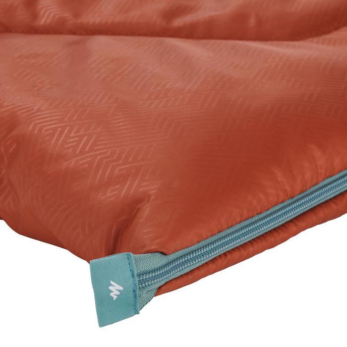 Saco Dormir Camping Quechua 10º Adulto Naranja