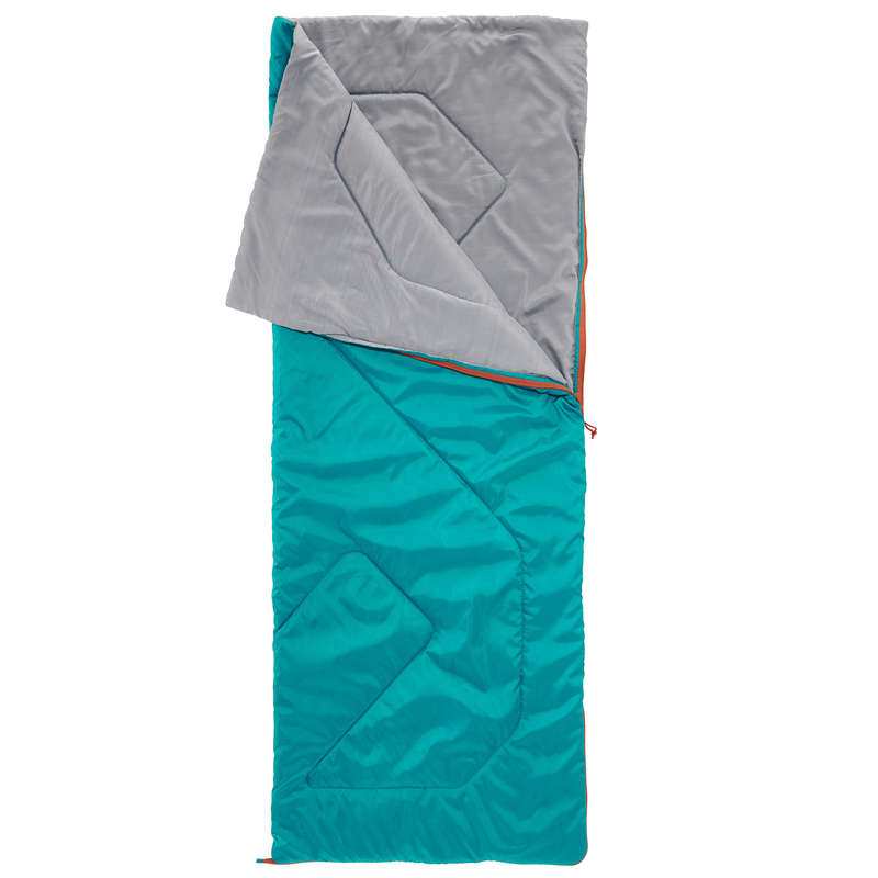 BASE CAMP SLEEPING BAGS Camping - Arpenaz 20° sleeping bag-Green QUECHUA - Sleeping Equipment