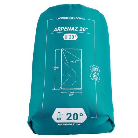Спальний мішок Arpenaz 20° для кемпінгу - Зелений