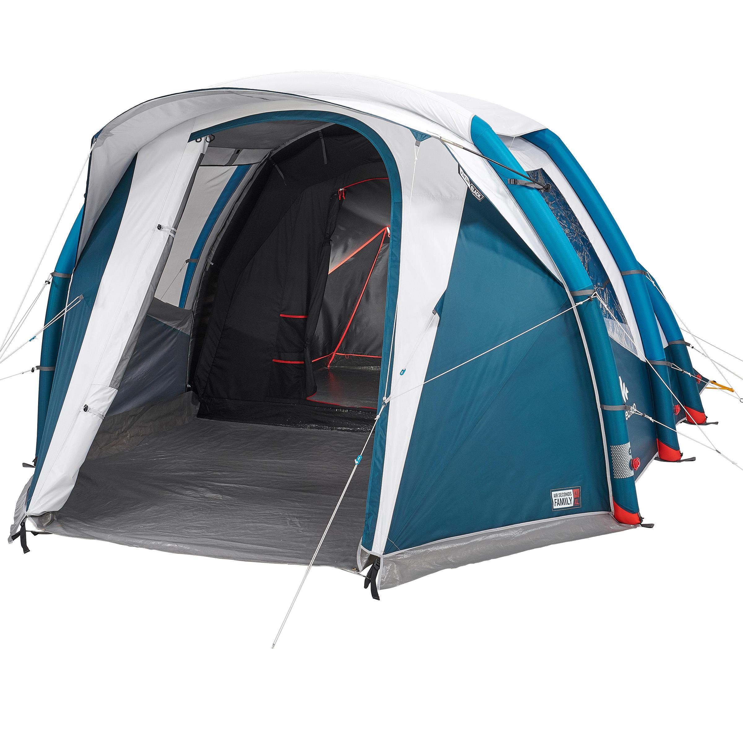 Quechua Tent | 4 personen opblaasbaar AIR SECONDS 4.1 FRESH&BLACK | 1 binnentent