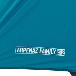 Kampeertent met bogen voor 5 personen Arpenaz 5.2 F&B 2 kamers