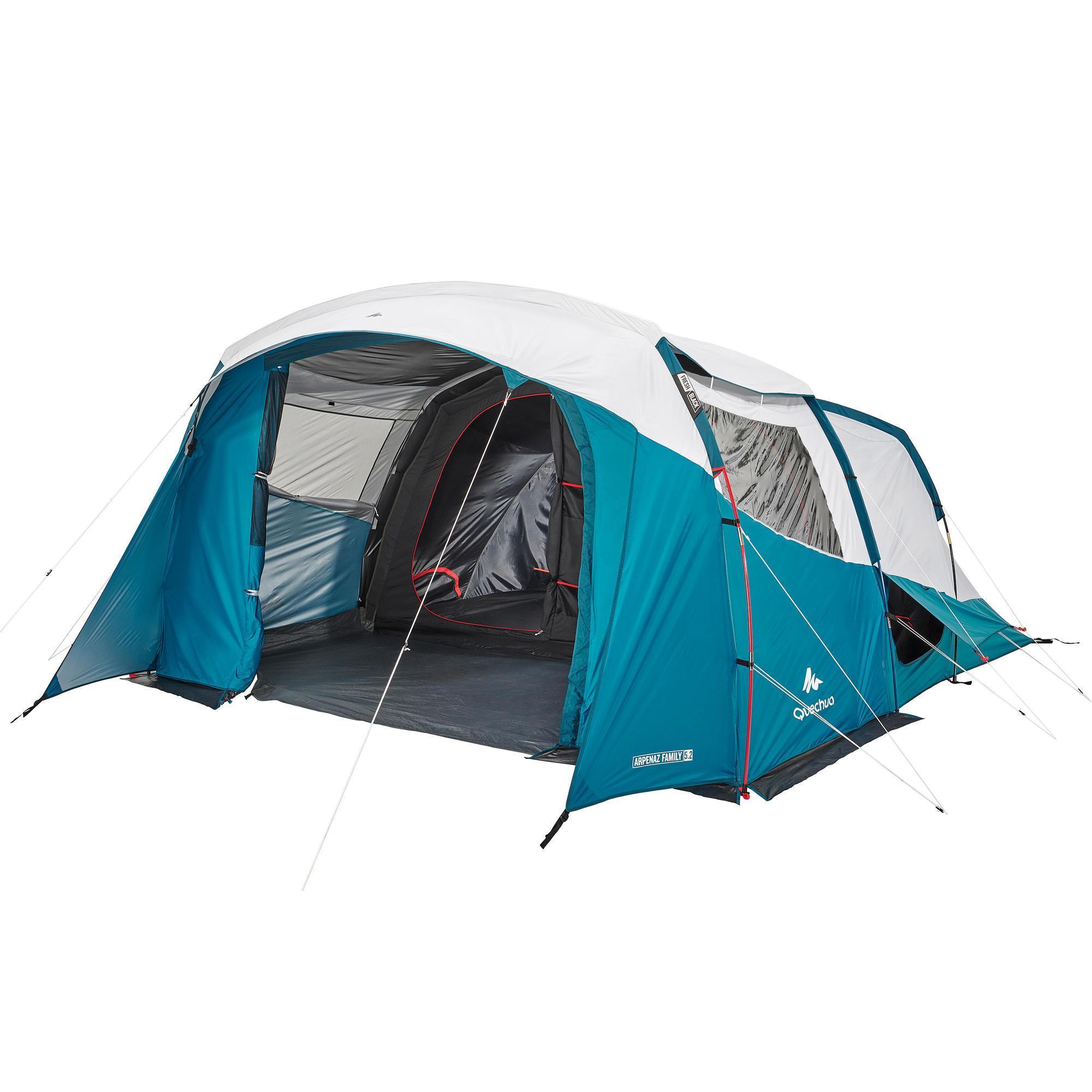Quechua Tent 5 personen met bogen ARPENAZ 5.2 FRESH&BLACK – 2 slaapcompartimenten kopen? Lees eerst dit