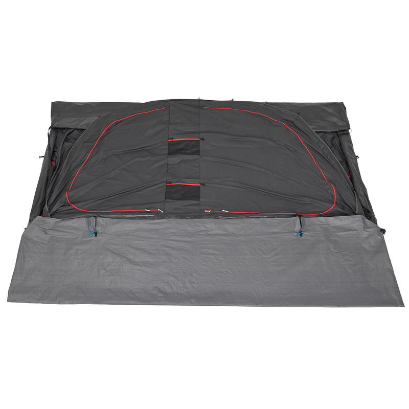 Camping tent with poles - Arpenaz 5.2 F&B - 5 Person - 2 Bedrooms