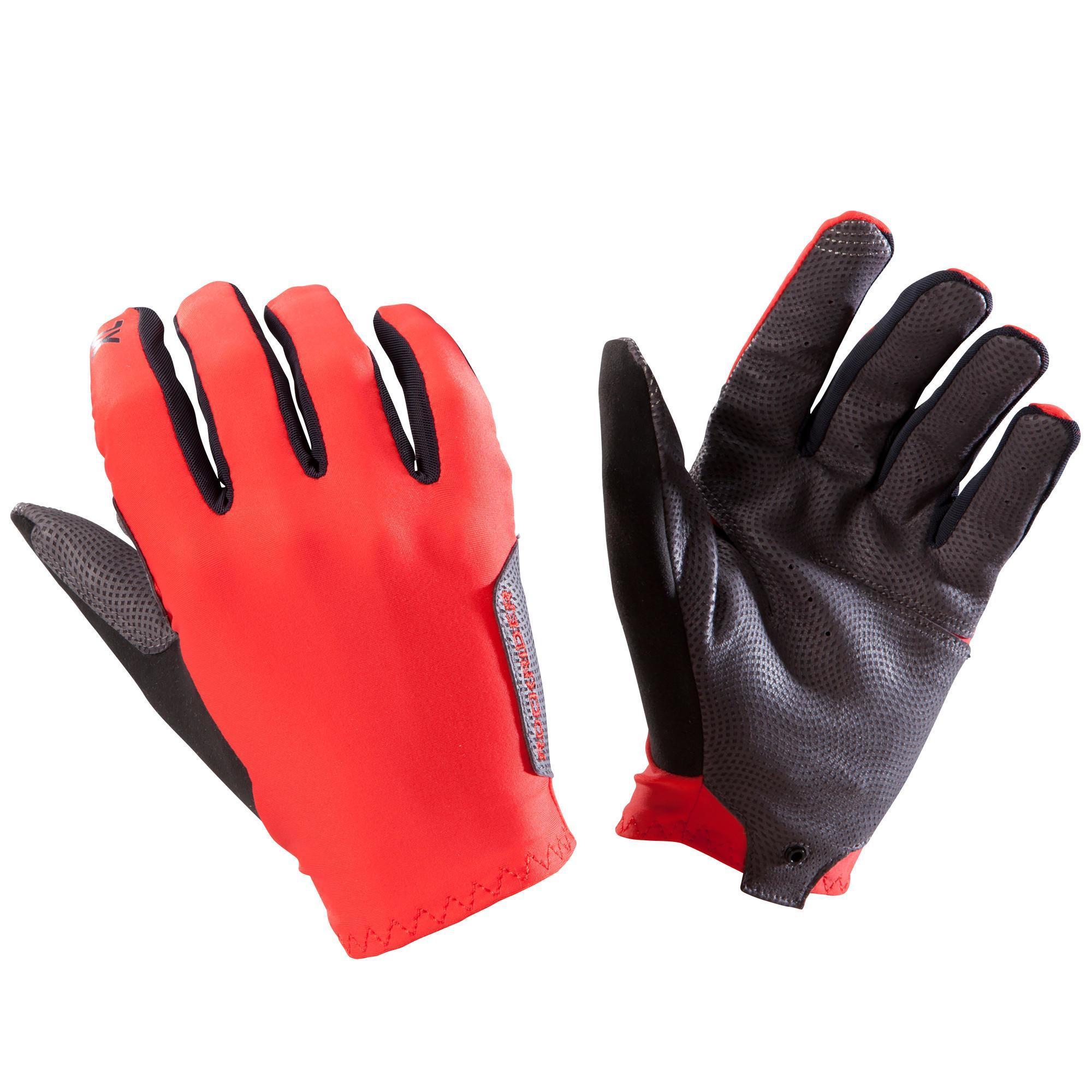 Fahrradhandschuhe MTB XC Light rot | Accessoires > Handschuhe | Rot | Baumwolle - Stein | Rockrider