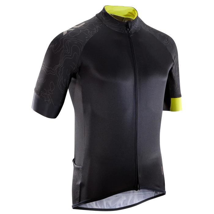 MTB-shirt XC 100 korte mouwen zwart