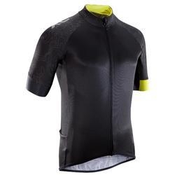Kurzarm-Fahrradtrikot XC 100 schwarz