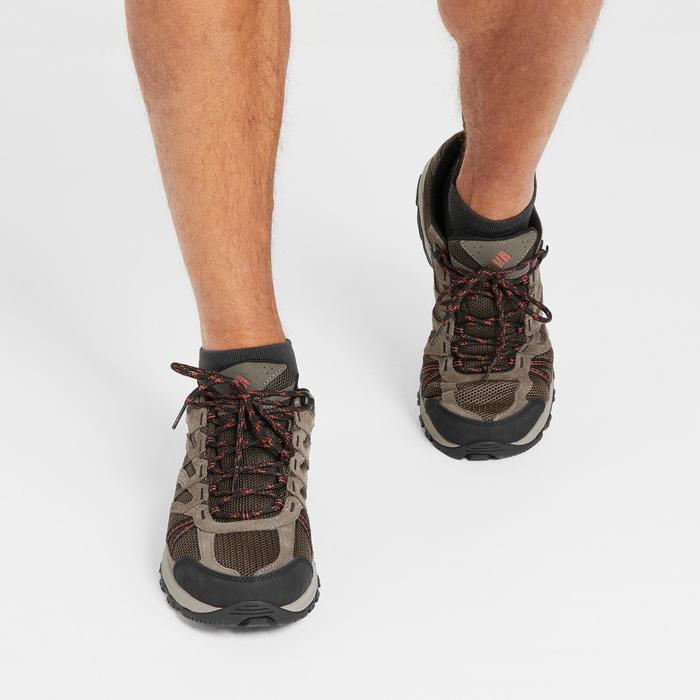 Redmond Mens Waterproof Walking Shoes - Brown