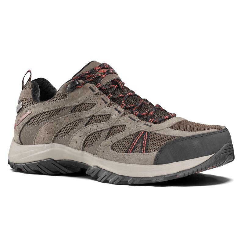 MEN MOUNTAIN HIKING SHOES Hiking - Redmond Mens Waterproof Walking Shoes - Brown COLUMBIA - Outdoor Shoes