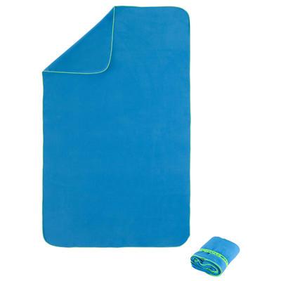 Toalla de microfibra ultra compacta talla L 80 x 130 cm azul cian