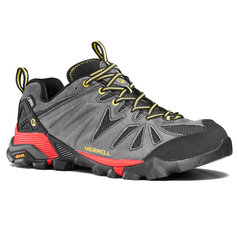 MEN MOUNTAIN HIKING SHOES Hiking - Capra Gore-Tex Mens Waterproof Walking Shoes - Grey MERRELL - Outdoor Shoes