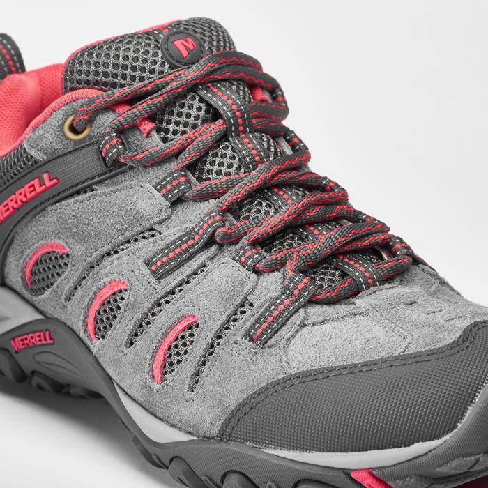 Chaussures de randonnée montagne - MERRELL CROSSLANDER Gris/Rose - Femme