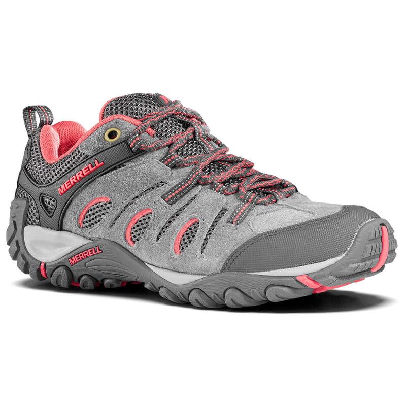 WOMEN MOUNTAIN HIKING SHOES Hiking - Crosslander Womens Walking Shoes - Grey  MERRELL - Outdoor Shoes
