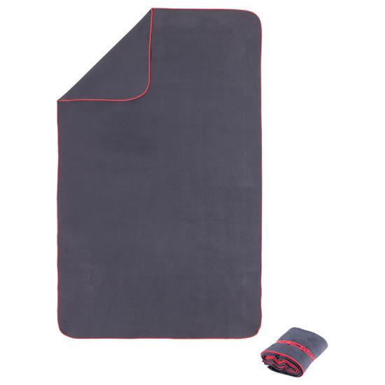 Zeer compacte microvezel handdoek cinablauw maat L 80 x 130 cm - 156975
