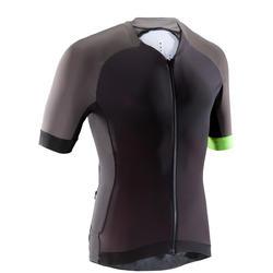 Fahrradtrikot kurzarm MTB XC Light Herren schwarz/grau