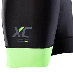 Kurze MTB-Hose XC Light mit Trägern Herren schwarz
