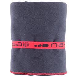 Zeer compacte microvezel handdoek cinablauw maat L 80 x 130 cm - 156980