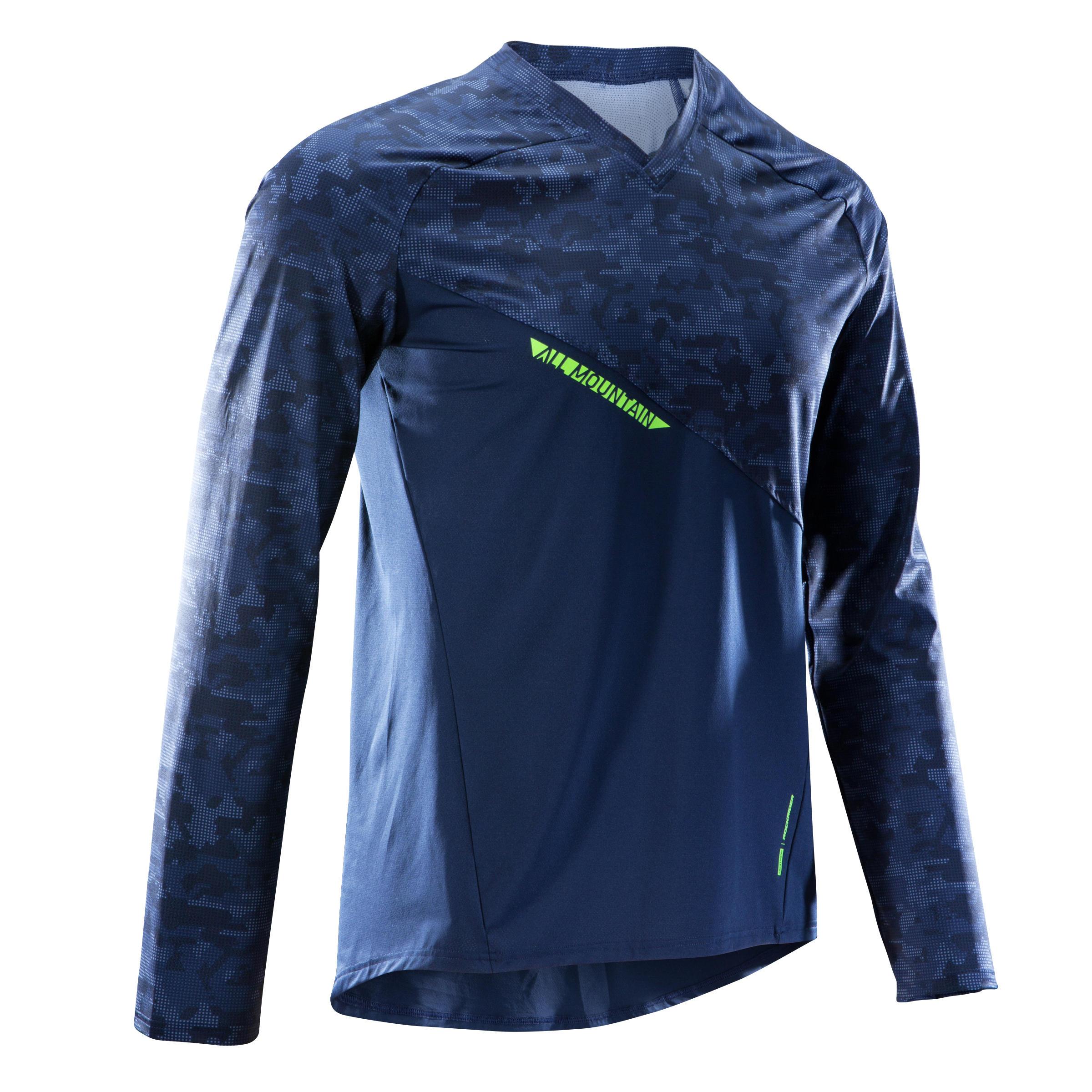 Rockrider MTB-shirt All Mountain Lange Mouwen