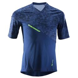 Radtrikot kurzarm MTB All Mountain AM blau