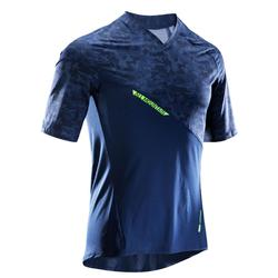 MTB-shirt voor all mountain korte mouwen AM blauw