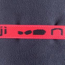 Zeer compacte microvezel handdoek cinablauw maat L 80 x 130 cm - 156985