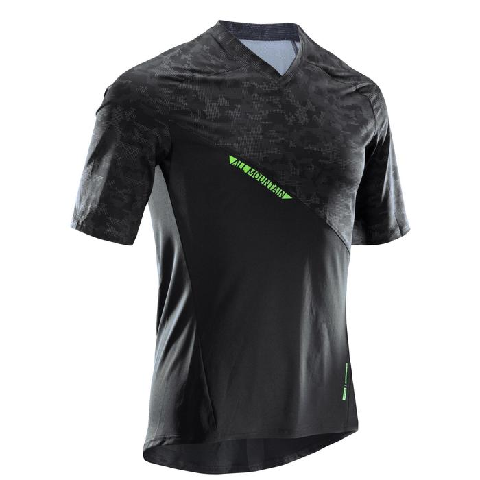 Radtrikot kurzarm MTB All Mountain AM schwarz