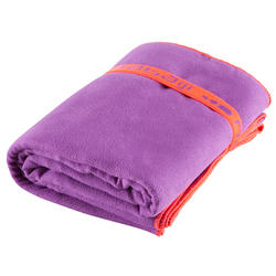 Zeer compacte microvezel handdoek cinablauw maat L 80 x 130 cm - 156991