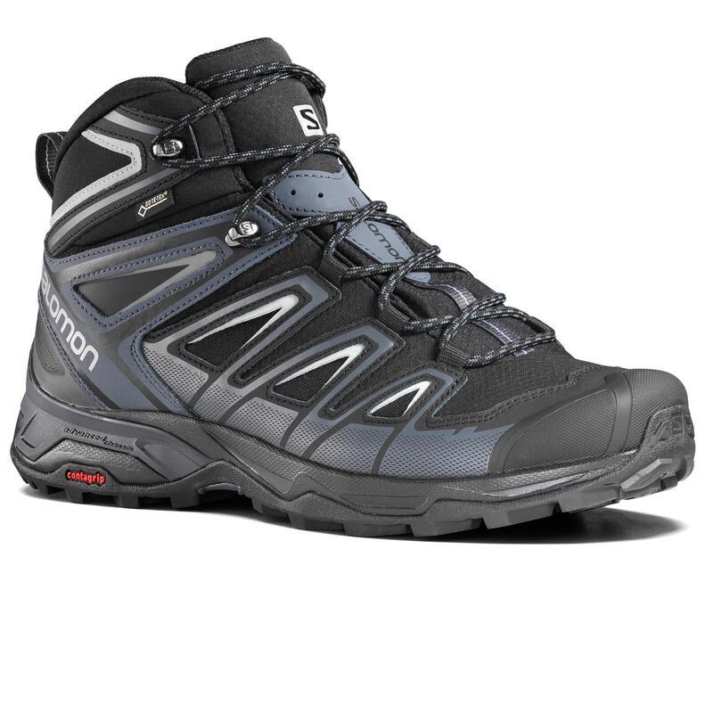 Botas de Montaña y Trekking GoreTex Hombre Salomon X-Ultra Negro Caña Media
