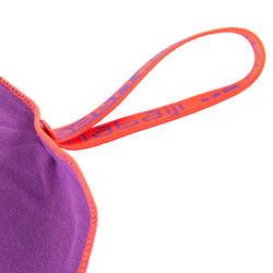 Zeer compacte microvezel handdoek cinablauw maat L 80 x 130 cm - 156992
